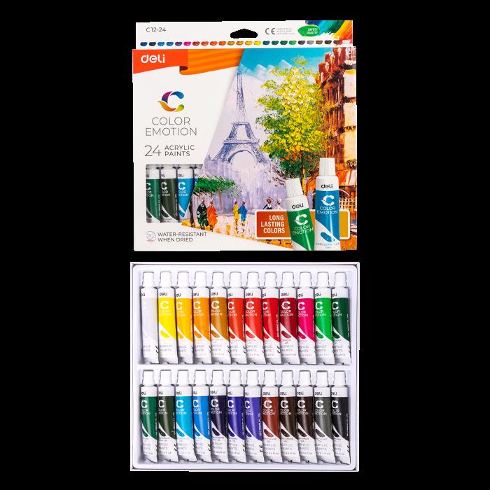 Culori Acrilice 24 Culori 12 ML Deli 1