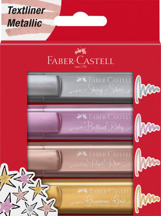 Textmarker Set 4 culori Metalizate 1546 Faber-Castell 0