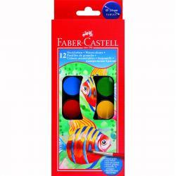 Acuarele 12 culori Pensula pastila de 30 mm Faber-Castell0