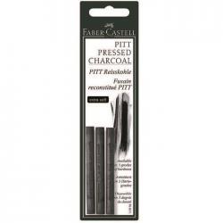 Carbune Presat Pitt Monochrome 3 buc extra-soft Faber-Castell0