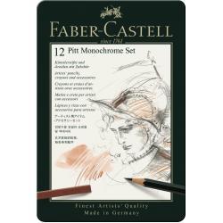Set Pitt Monochrome 12 Buc Nou Faber-Castell1