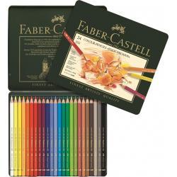 Creioane Colorate Polychromos 24 Culori Cutie Metal Faber-Castell1