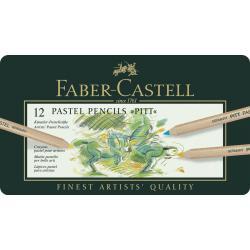 Creioane Pastel Pitt 12 Culori Faber-Castell1