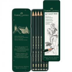 Set 6 Buc Creion Grafit Castell 9000 Faber-Castell [0]