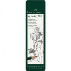 Set 6 Buc Creion Grafit Castell 9000 Faber-Castell [1]