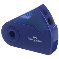 Ascutitoare Plastic Dubla Sleeve rosu/albastru Faber-Castell0