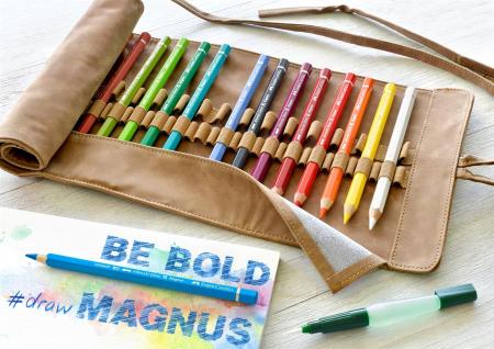 Rollup 18 Creioane Colorate A.Durer Magnus+Accesorii Faber-Castell1