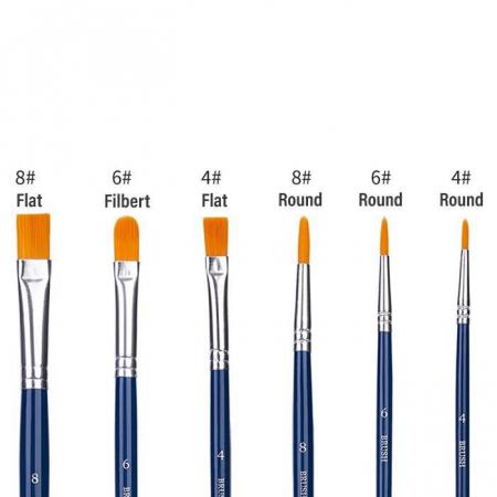 Set de 6 Pensule (nr. 4, 6, 8) Deli [3]