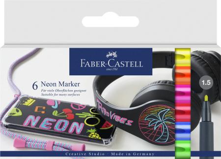 Set 6 Markere Neon Faber-Castell [0]