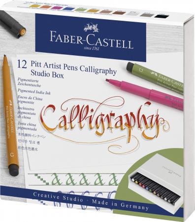Pitt Artist Pen Caligrafie Cutie Studio 12 buc/set Faber-Castell [0]