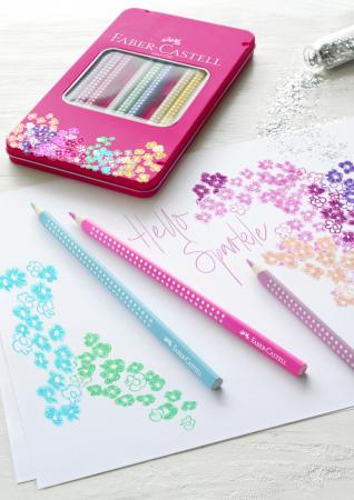 Set 12 Creioane colorate Sparkle Faber-Castell1