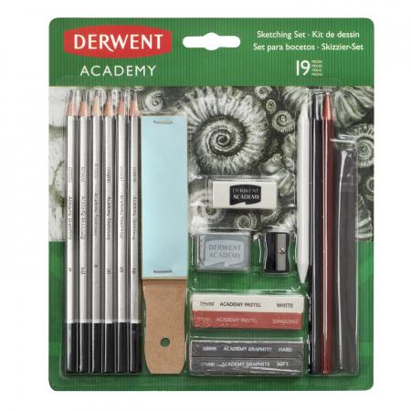 Set complet pentru schite 19 buc/set Derwent Academy0