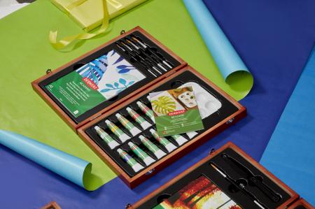 Acuarele 12 Culori x 12 ml, cutie din lemn, 20 buc/set Derwent Academy [3]