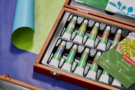 Acuarele 12 Culori x 12 ml, cutie din lemn, 20 buc/set Derwent Academy [5]