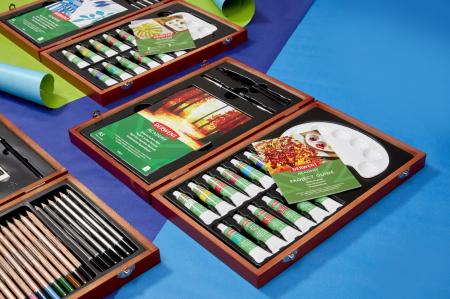 Acuarele 12 Culori x 12 ml, cutie din lemn, 20 buc/set Derwent Academy [6]
