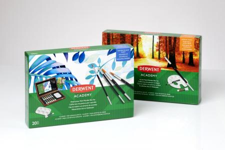 Acuarele 12 Culori x 12 ml, cutie din lemn, 20 buc/set Derwent Academy [8]