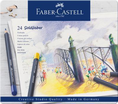 CREIOANE COLORATE 24 CULORI GOLDFABER CUTIE METAL Faber-Castell0