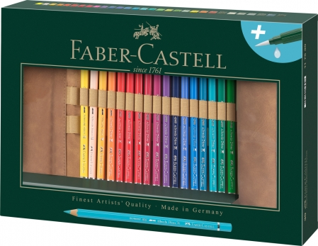 Rollup 30 Creioane Colorate A.Durer & Accesorii Faber-Castell0