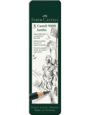 SET 5 BUC GRAFIT CASTELL 9000 JUMBO Faber-Castell1