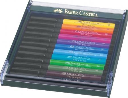 Cutie 12 Culori Pitt Artist Pen Nuante Basic Faber-Castell0