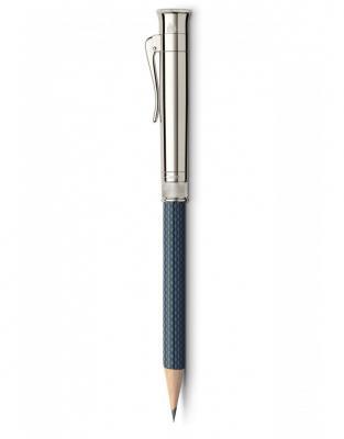 CREION PERFECT PENCIL PLATINA GUILLOCHE NIGHTBLUE Graf Von Faber Castell1