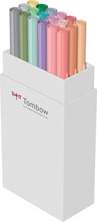 ABT Dual Brush Pen Pastel Colours - set 18 culori Tombow2
