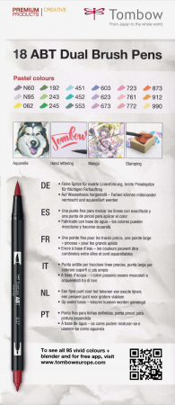 ABT Dual Brush Pen Pastel Colours - set 18 culori Tombow6
