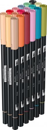 ABT Dual Brush Pen Secundary Colours - set 18 culori Tombow4
