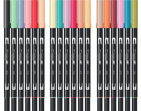 ABT Dual Brush Pen Secundary Colours - set 18 culori Tombow5