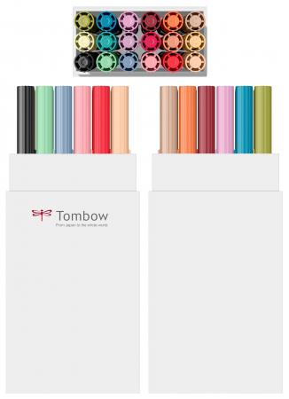 ABT Dual Brush Pen Secundary Colours - set 18 culori Tombow1