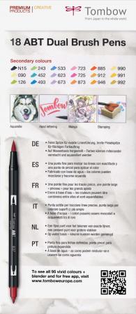 ABT Dual Brush Pen Secundary Colours - set 18 culori Tombow7