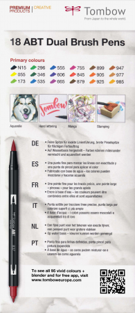ABT Dual Brush Pen Primary Colours - set 18 culori Tombow8