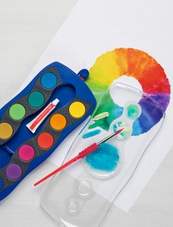 Acuarele 12 Culori Connector Albastre Faber-Castell1