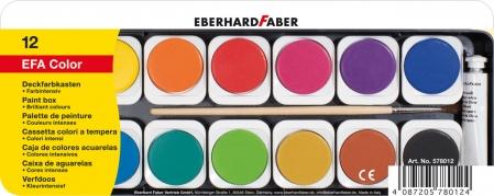 ACUARELE 12 CULORI DETASABILE + PENSULA+TUB ALB EBERHARD FABER [0]