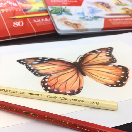 Creioane Colorate SUPRACOLOR 80 culori Caran d'Ache2