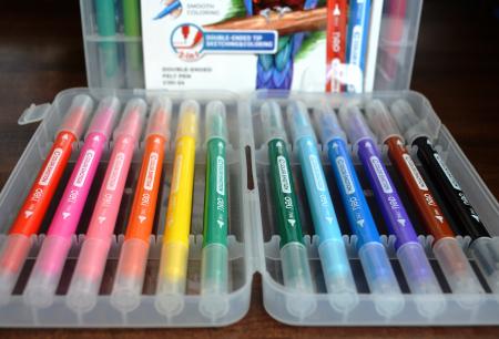 Carioci cu Varf Pensula 24 culori Deli [4]