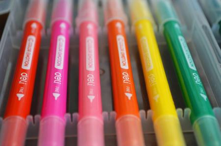 Carioci cu Varf Pensula 24 culori Deli [3]