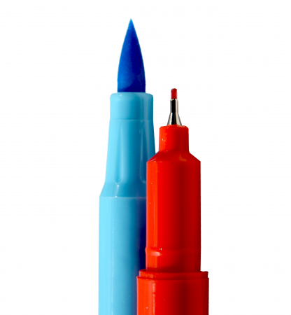 Carioci cu Varf Pensula 24 culori Deli [5]