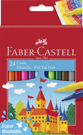 Carioci Super Washable 24 culori Faber-Castell0