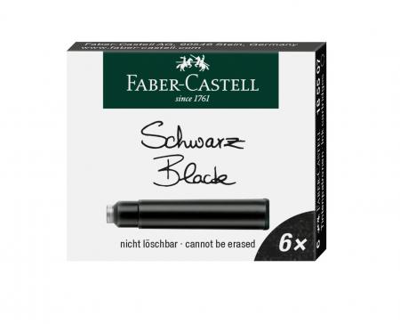Cartuse Cerneala Mici Negru 6 Buc/Cutie Faber-Castell [0]