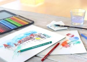 Creioane Colorate Acuarela A.Durer 36 culori, cutie metal Faber-Castell2