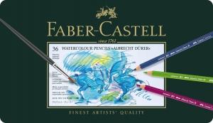 Creioane Colorate Acuarela A.Durer 36 culori, cutie metal Faber-Castell0