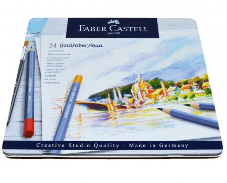 CREIOANE COLORATE AQUARELLE 24 CULORI GOLDFABER CUT. METAL Faber-Castell [3]