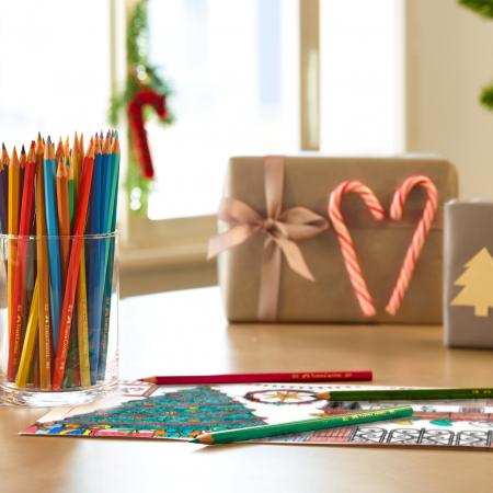 Creioane Colorate Eco 12 culori, cutie carton Faber-Castell [1]