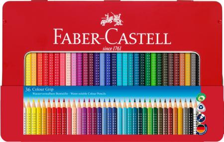 Creioane Colorate Grip 2001 36 culori / cutie metal Faber-Castell [0]