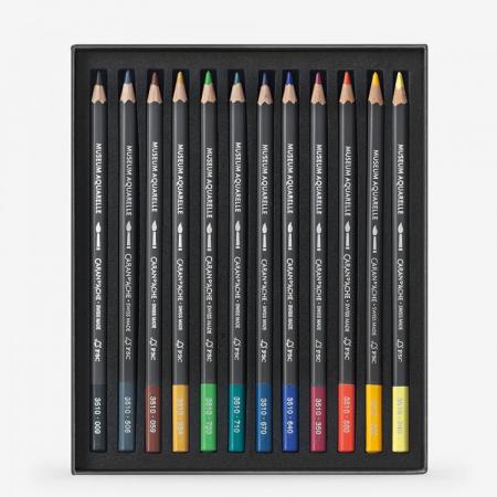 Creioane Colorate MUSEUM AQUARELLE 12 culori Caran d'Ache1