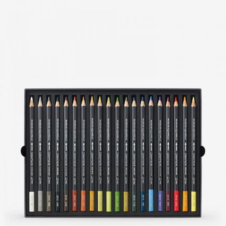 Creioane Colorate MUSEUM AQUARELLE 20 culori Landscape Caran d'Ache2