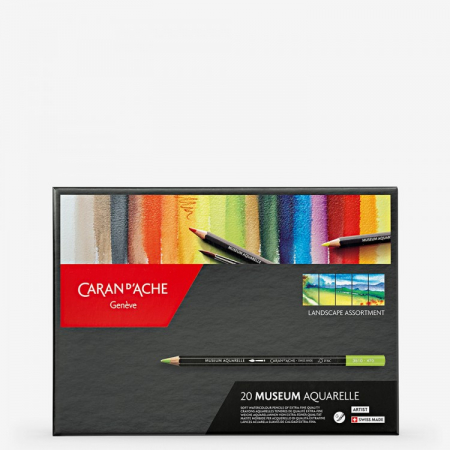 Creioane Colorate MUSEUM AQUARELLE 20 culori Landscape Caran d'Ache1