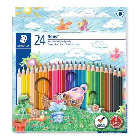 Creioane Colorate NORIS Aquarelle 24 Culori Staedtler [0]