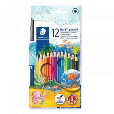 Creioane Colorate NORIS Aquarelle 12 Culori Staedtler0